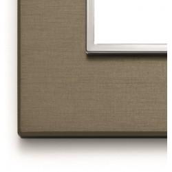 Ramka ozdobna 8(4+4)M aluminium dark bronze VIMAR EIKON EVO