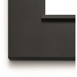 Ramka ozdobna 8(4+4)M aluminium total black VIMAR EIKON EVO