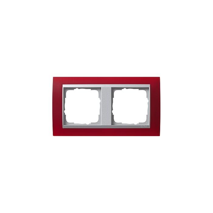Ramka podwójna (do aluminiowych środków), Gira Event Opaque czerwony