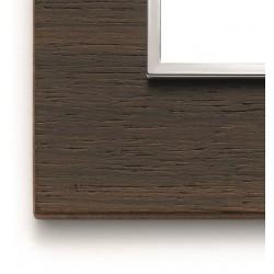 Ramka ozdobna 8(4+4)M wood wengé VIMAR EIKON EVO