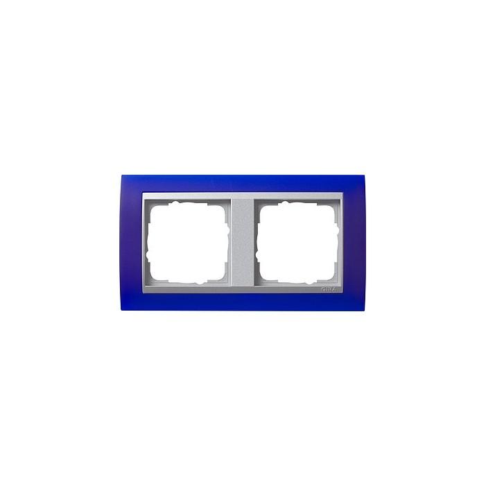 Ramka podwójna (do aluminiowych środków), Gira Event Opaque niebieski