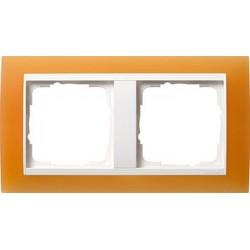Ramka podwójna (do białych, matowych środków), Gira Event Opaque pomarańczowa