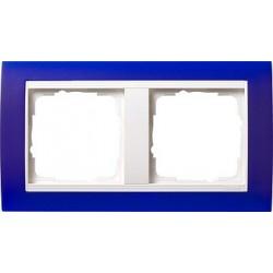 Ramka podwójna (do białych, matowych środków), Gira Event Opaque niebieski