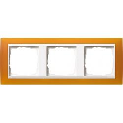 Ramka potrójna (do białych, matowych środków), Gira Event Opaque mat. bursztynowy