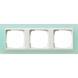Ramka potrójna (do białych, matowych środków), Gira Event Opaque seledynowe