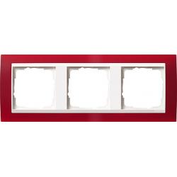 Ramka potrójna (do białych, matowych środków), Gira Event Opaque czerwony