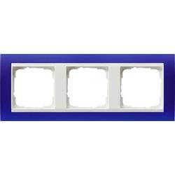 Ramka potrójna (do białych, matowych środków), Gira Event Opaque niebieski