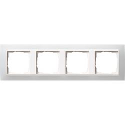 Ramka poczwórna (do białych, matowych środków), Gira Event Opaque biały
