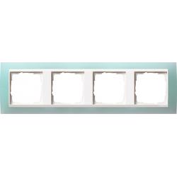 Ramka poczwórna (do białych, matowych środków), Gira Event Opaque seledynowe