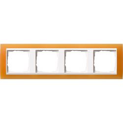 Ramka poczwórna (do białych, matowych środków), Gira Event Opaque pomarańczowa