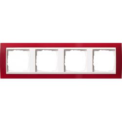 Ramka poczwórna (do białych, matowych środków), Gira Event Opaque czerwony