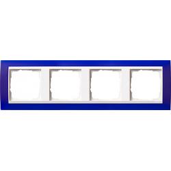 Ramka poczwórna (do białych, matowych środków), Gira Event Opaque niebieski