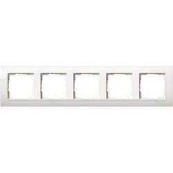 Ramka pięciokrotna matowy do białego Gira Event biały matowy