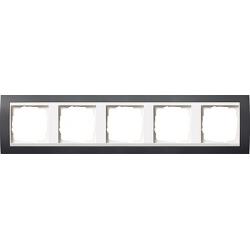Ramka pięciokrotna matowy do białego Gira Event antracytowy