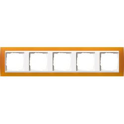 Ramka pięciokrotna (do białych, matowych środków), Gira Event Opaque mat. bursztynowy