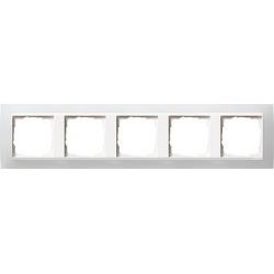 Ramka pięciokrotna (do białych, matowych środków), Gira Event Opaque biały