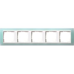 Ramka pięciokrotna (do białych, matowych środków), Gira Event Opaque seledynowe