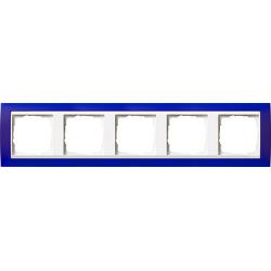 Ramka pięciokrotna (do białych, matowych środków), Gira Event Opaque niebieski