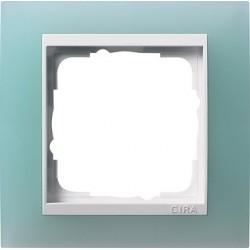 Ramka pojedyncza (do białych środków), Gira Event Opaque seledynowe
