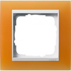 Ramka pojedyncza (do białych środków), Gira Event Opaque pomarańczowa