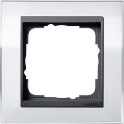 Ramka pojedyncza (do antracytowych środków), Gira Event Clear biały