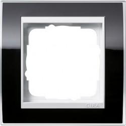 Ramka pojedyncza (do białych środków) Gira Event Clear czarny