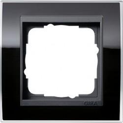 Ramka pojedyncza (do antracytowych środków), Gira Event Clear czarny