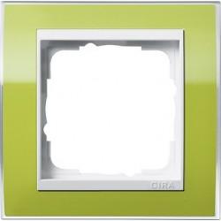 Ramka pojedyncza (do białych środków) Gira Event Clear zielony