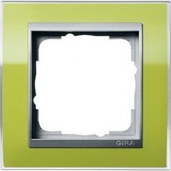 Ramka pojedyncza (do aluminiowych środków) Gira Event Clear zielony