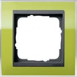 Ramka pojedyncza (do antracytowych środków), Gira Event Clear zielony