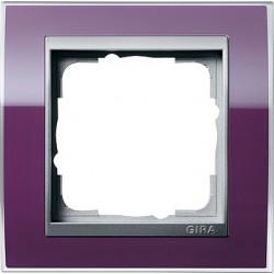 Ramka pojedyncza (do aluminiowych środków) Gira Event Clear kabaczkowy