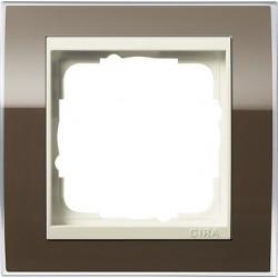 Ramka pojedyncza (do kremowych środków), Gira Event Clear brązowy