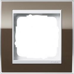 Ramka pojedyncza (do białych środków) Gira Event Clear brązowy