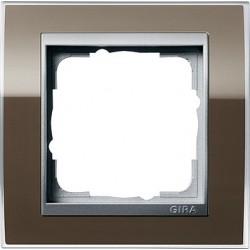 Ramka pojedyncza (do aluminiowych środków) Gira Event Clear brązowy