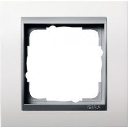 Ramka pojedyncza aluminiowy Gira Event biały