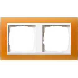 Ramka podwójna (do białych środków), Gira Event Opaque pomarańczowa