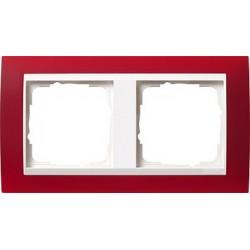 Ramka podwójna (do białych środków), Gira Event Opaque czerwony