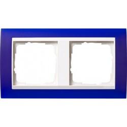 Ramka podwójna (do białych środków), Gira Event Opaque niebieski