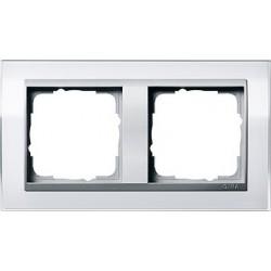 Ramka podwójna (do aluminiowych środków), Gira Event Clear biały