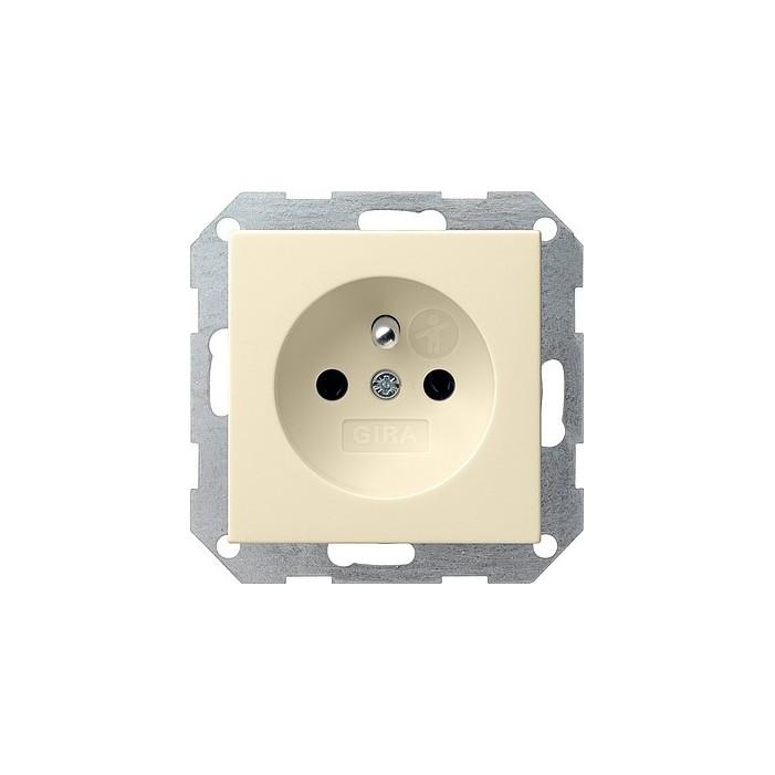Gniazdo z bolcem i zabezp. kremowe 16A System 55 GIRA