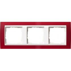 Ramka potrójna (do białych środków), Gira Event Opaque czerwony