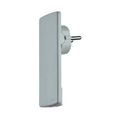 Płaska wtyczka Schulte EVOline Plug, biała