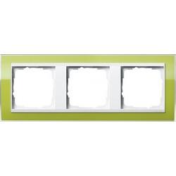 Ramka potrójna (do białych środków) Gira Event Clear zielony
