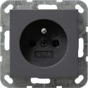 Gniazdo z bolcem i zabezp. antracytowe 16A System 55 GIRA