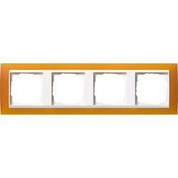 Ramka poczwórna (do białych środków), Gira Event Opaque mat. bursztynowy