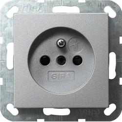 Gniazdo z bolcem i zabezp. alu 16A System 55 GIRA