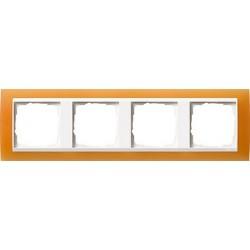 Ramka poczwórna (do białych środków), Gira Event Opaque pomarańczowa