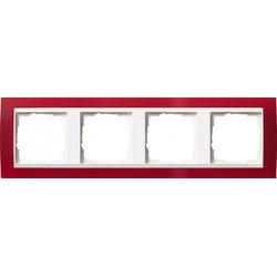 Ramka poczwórna (do białych środków), Gira Event Opaque czerwony