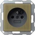 Gniazdo z bolcem i zabezp. brąz/czarny 16A System 55 GIRA