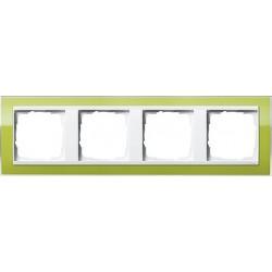 Ramka poczwórna (do białych środków) Gira Event Clear zielony